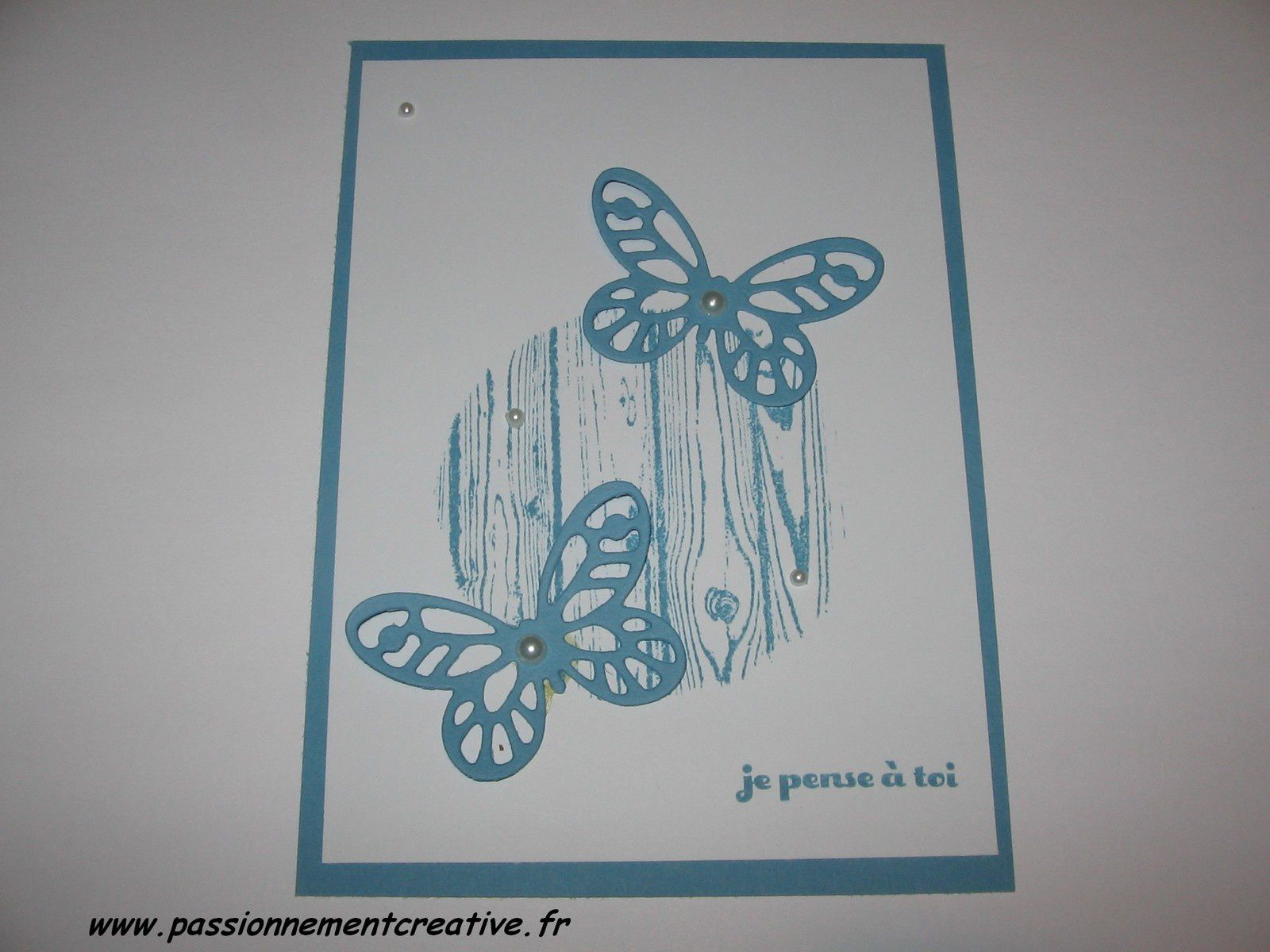 "Carte Stampin'up ""Je pense à toi"""