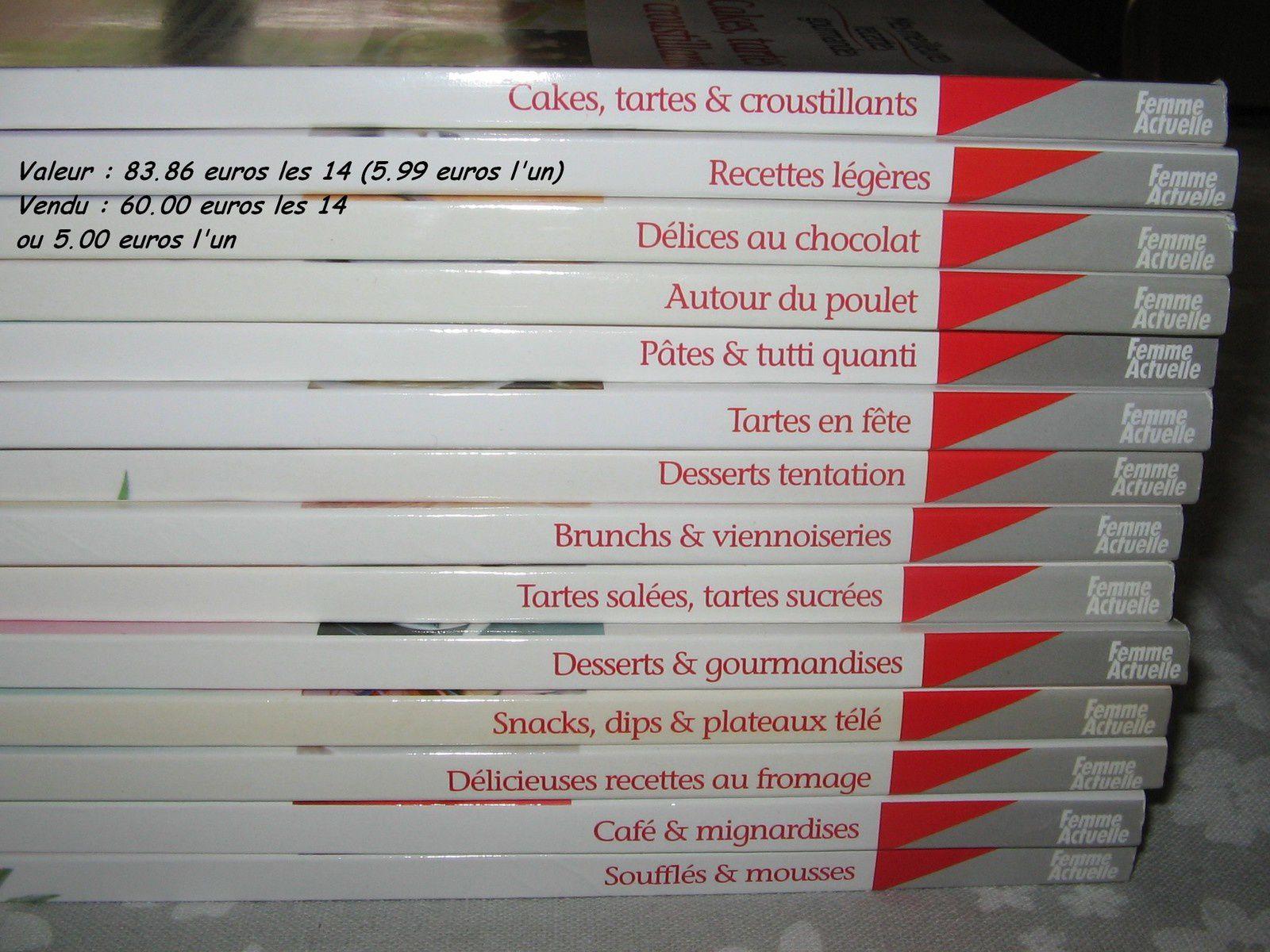 A vendre : livres de cuisine
