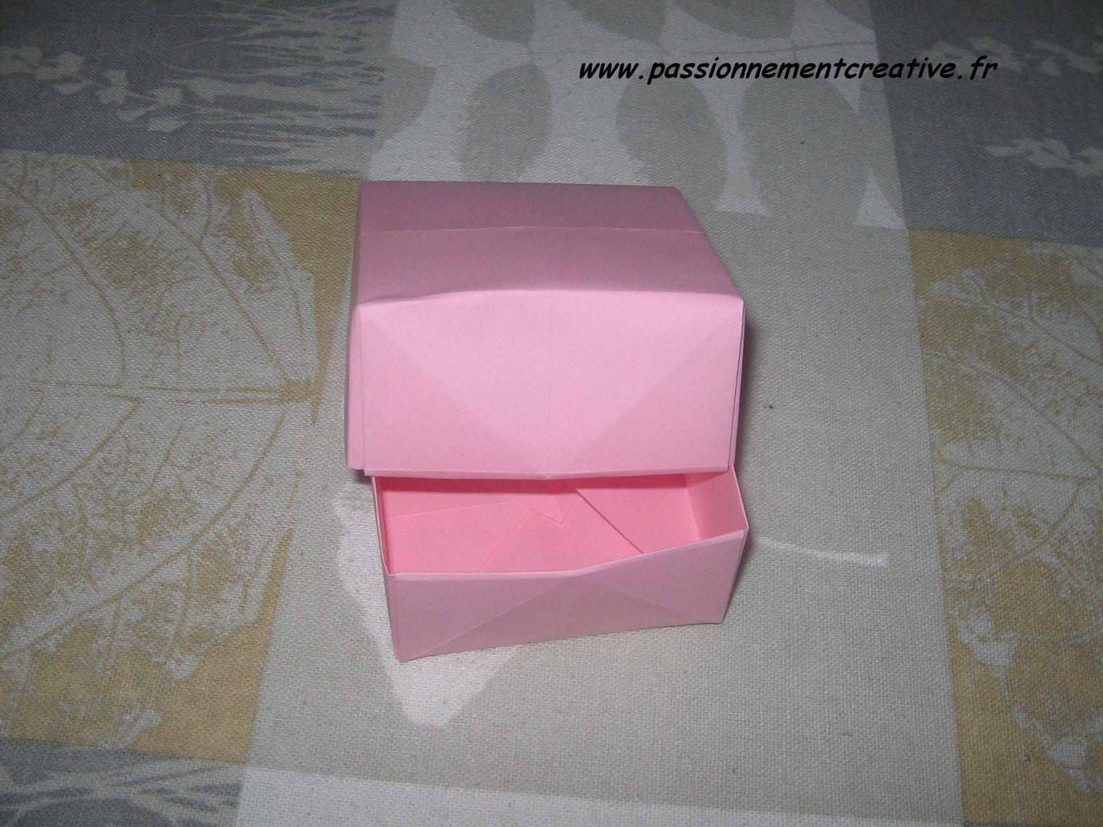 Boites en origami
