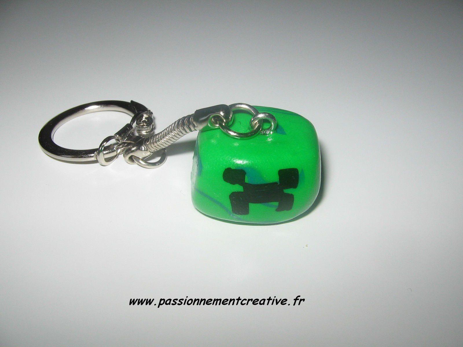 Porte clés Creeper en fimo