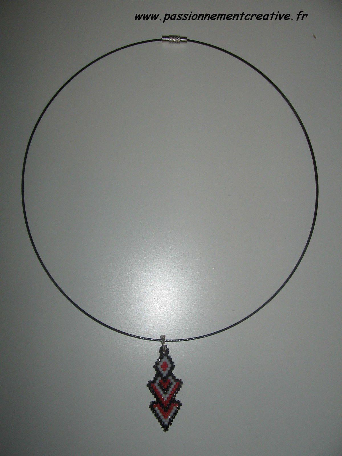Pendentif Superposition en perles Miyuki
