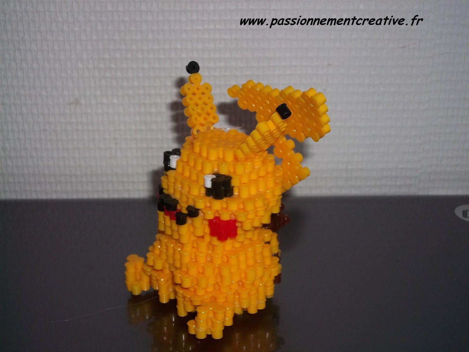 Pikachu En Perles Hama Passionnement Créative