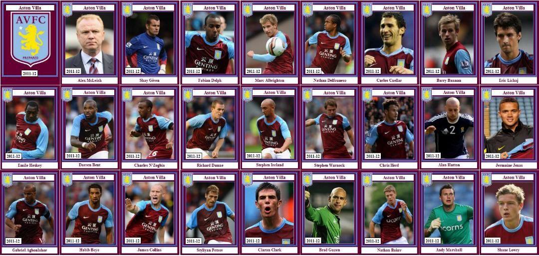 Aston Villa, crew 2011-12