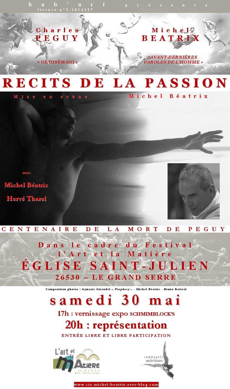 """""""LES RÉCITS DE LA PASSION"""" EN TOURNÉE"""