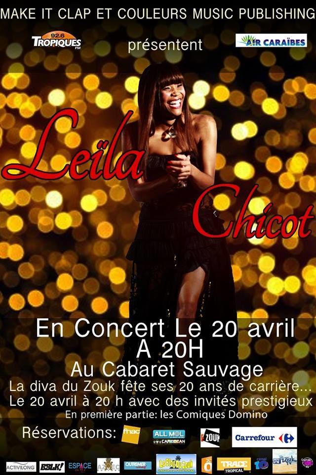 Jeu Concours Tropics Magazine • LEILA CHICOT, la Diva du Zouk, fête ses 20ans de carrière.