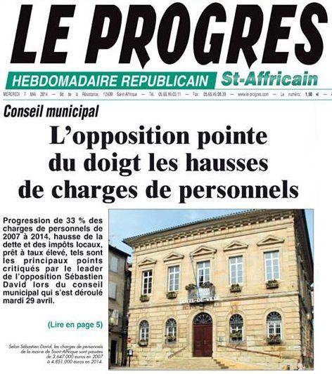 [Conseil Municipal] : L'opposition pointe du doigt les hausses de charge de personnel
