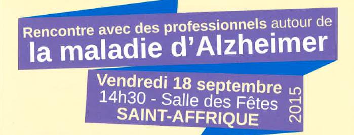 [Alzheimer] Rencontre avec les professionnels à la salle des fêtes de Saint-Affrique