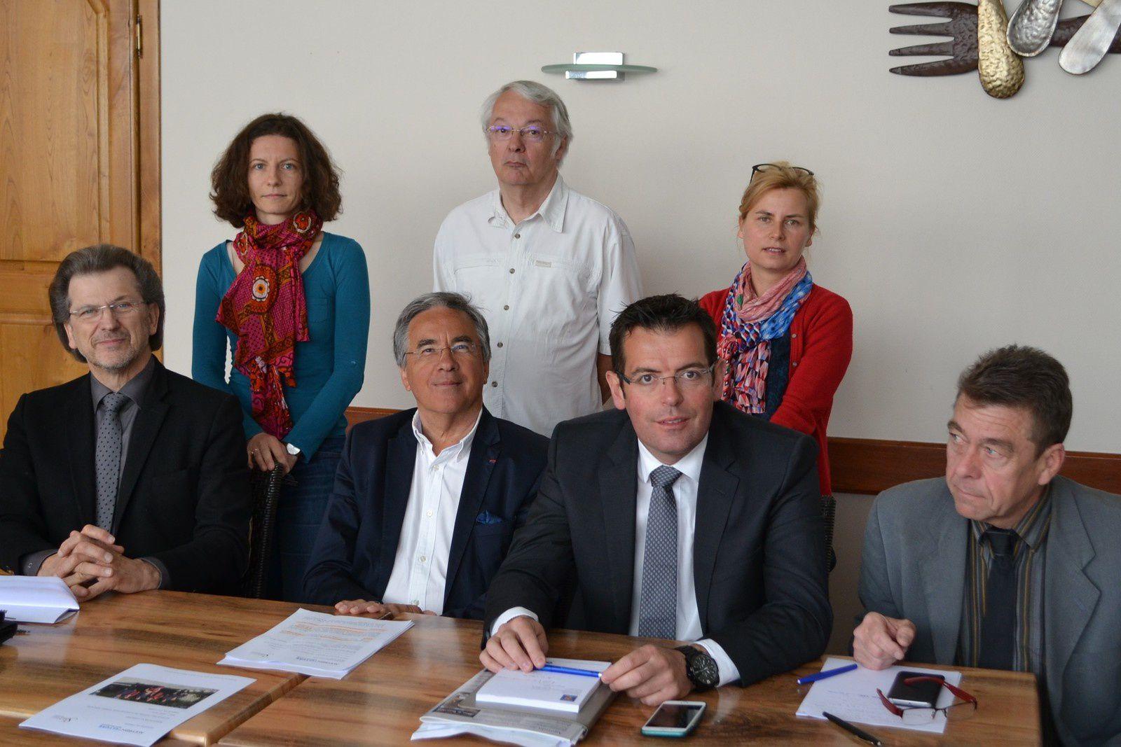 Michel Wolkowilsky, Jean-François Galliard, Sébastien David et Christophe Laborie, lors de la conférence de presse.