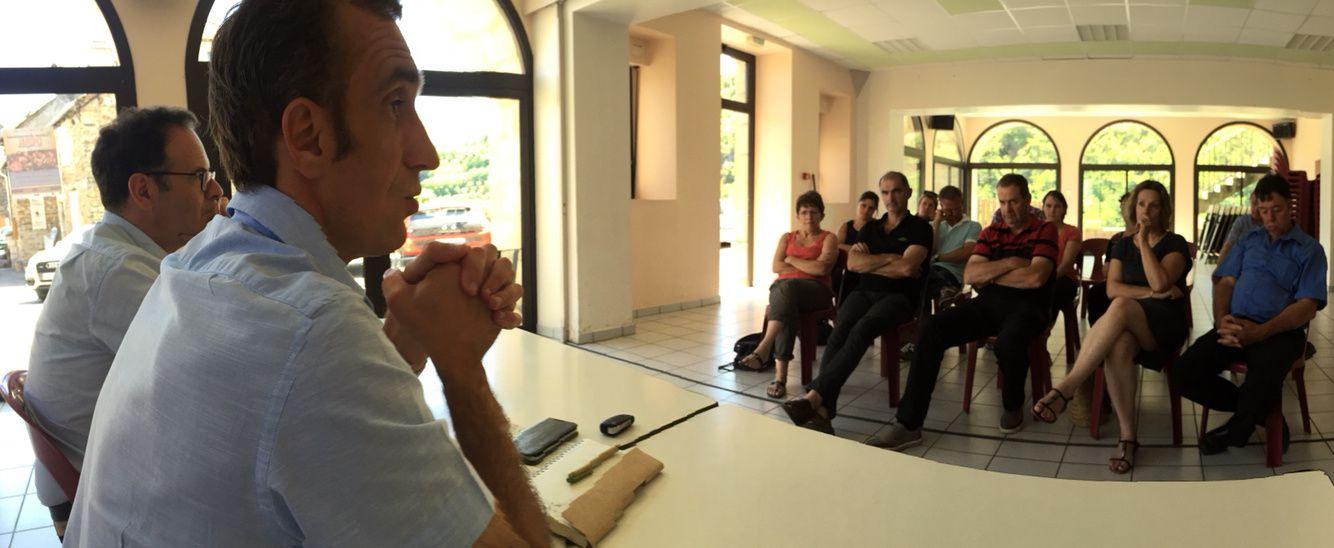 [Législatives] Arnaud Viala et Sébastien David en réunion publique à Ayssènes, avec le soutien du sénateur Alain Marc