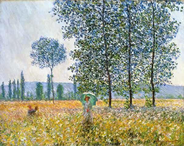 Champs au printemps, Claude Monet, 1884