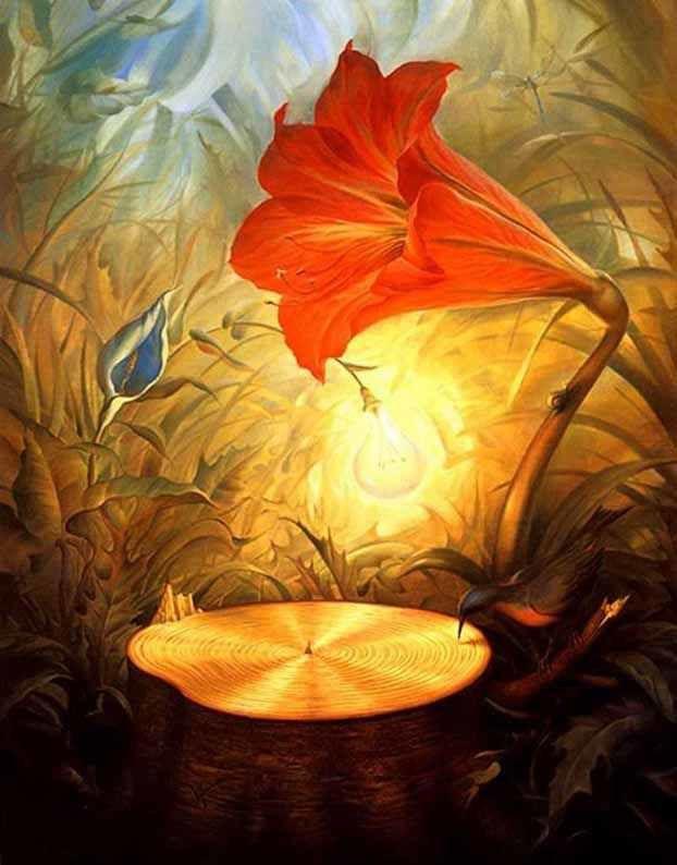 Music of the woods - Vladimir Kush (source : http://vladimirkush.com)
