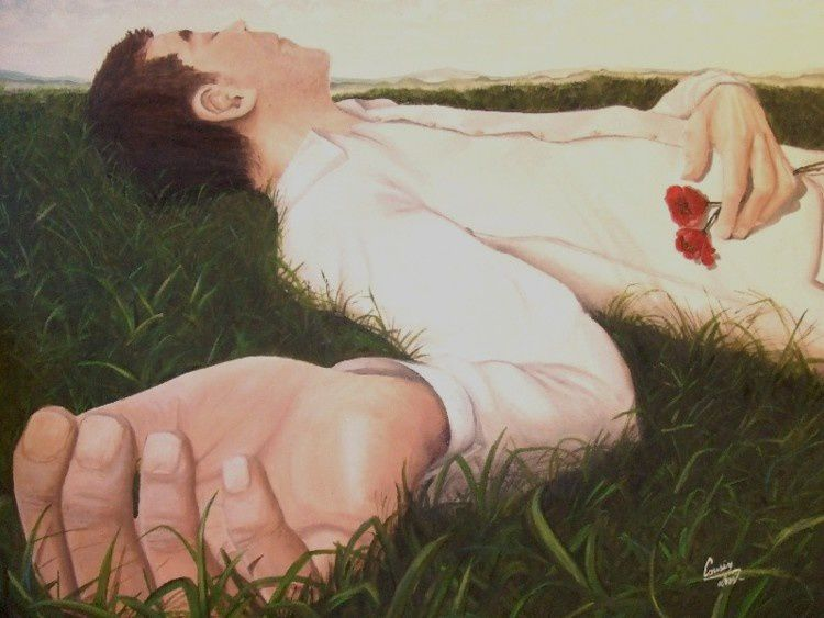 Le dormeur du Val - 2008 - Denis Cousin (source : http://www.artmajeur.com/fr/artist/deniscousin/collection/des-mots-sages-comme-des-images/1228437/artwork/le-dormeur-du-val/3443347)