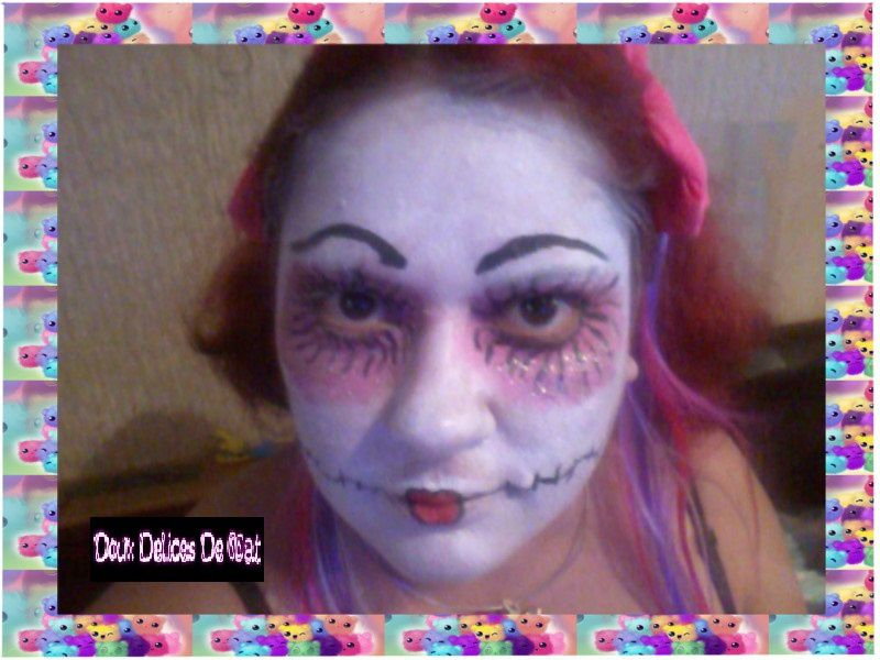 Maquillage poup e mal fique doux d lices de nat - Maquillage poupe demoniaque ...