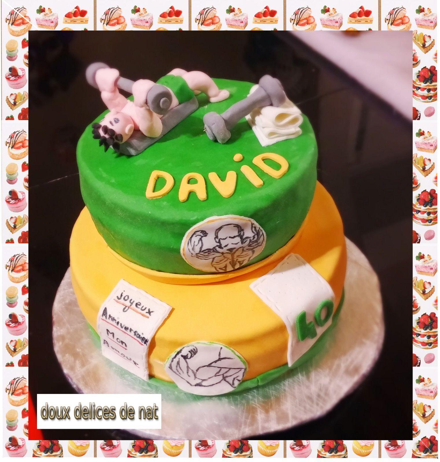 Gâteau Haltérophilie :