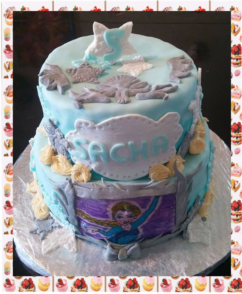 Gâteau reine des neiges :