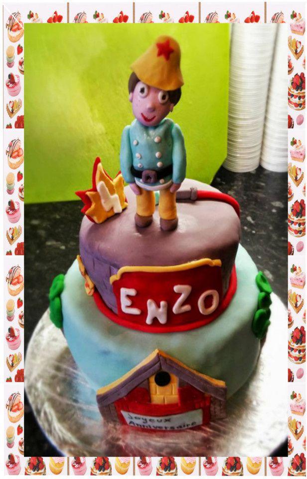 Gâteau Sam le pompier :