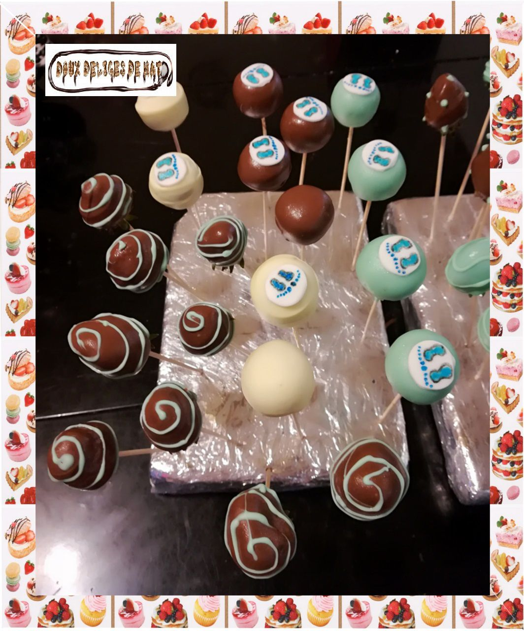 Cakes pop baby shower :