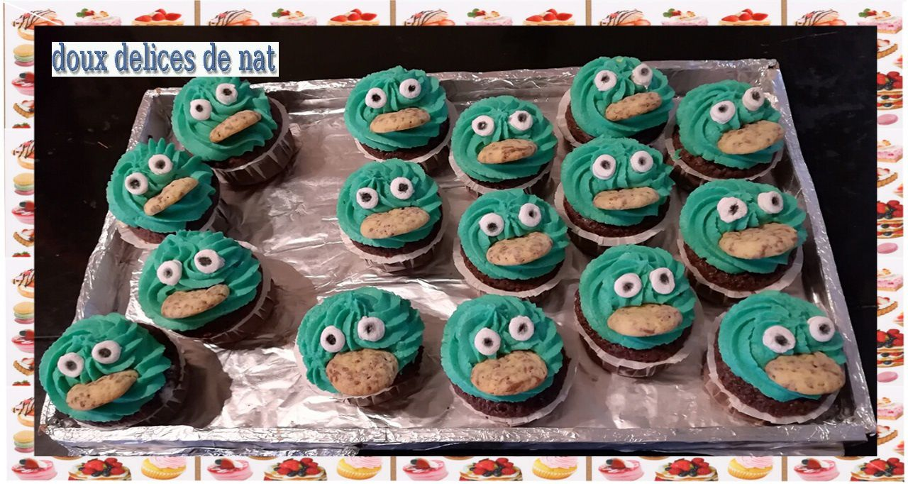 Cupcakes cookie Monster :