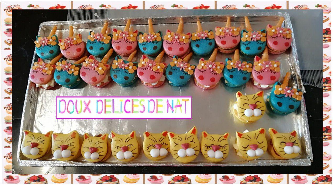Macarons licornes et chats :