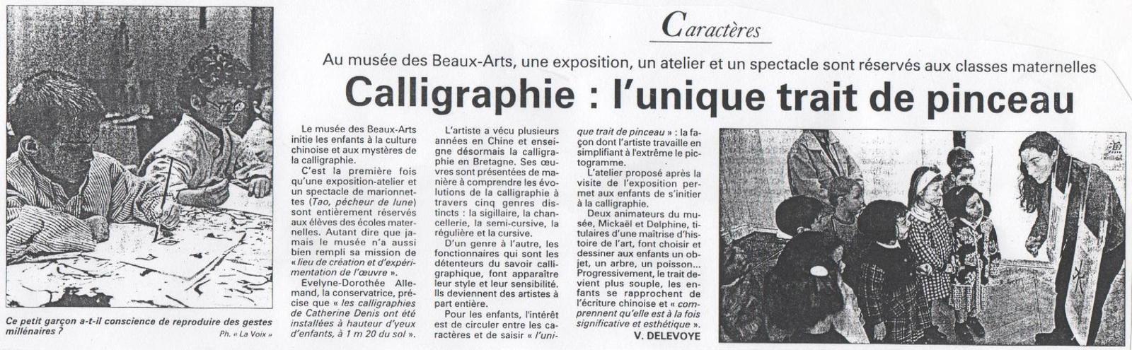 La Voix du Nord - 16 mars 1999.