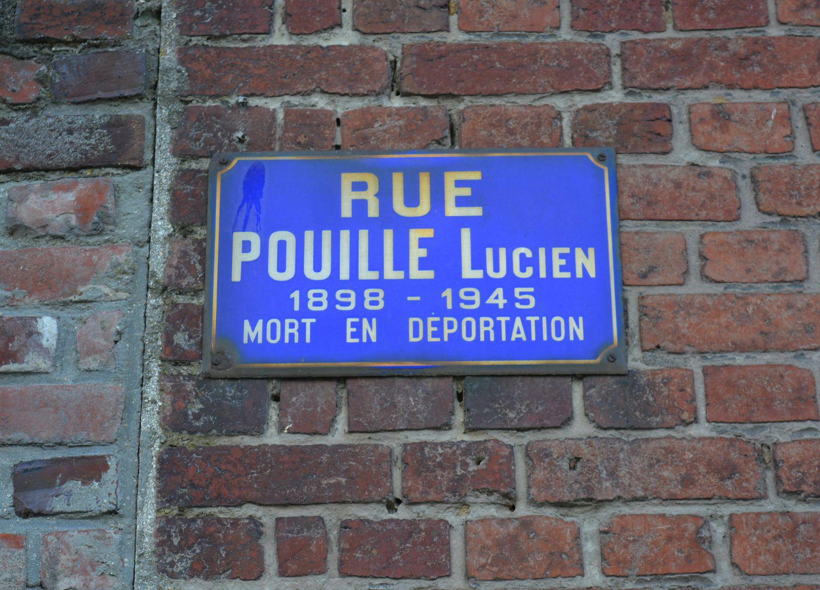 Plaque de la rue Pouille Lucien à Erre - Photo : MG, 31 juillet 2015.