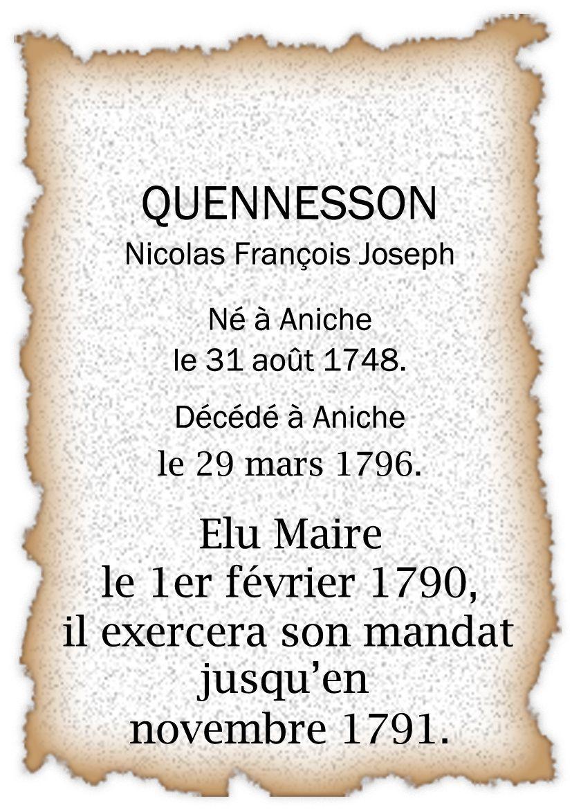 Mayeurs et maires d'Aniche de 1600 à nos jours
