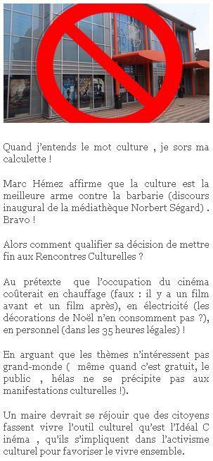 """Nouvelle réaction de Michel Meurdesoif sur le site du """"Rassemblement citoyen"""" d'Aniche, 8 décembre 2015."""