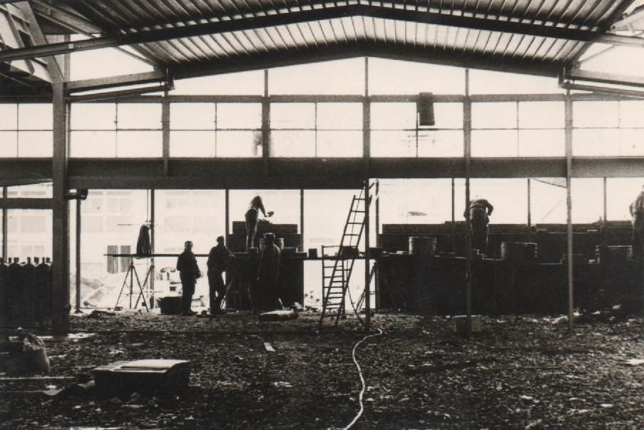 Photos de la construction du CET d'Aniche : Jean Banaszak, 1965-1966. Source : Philippe Banaszak.