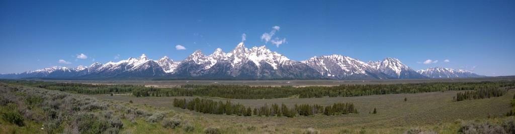 Dernier panorama de Teton Range