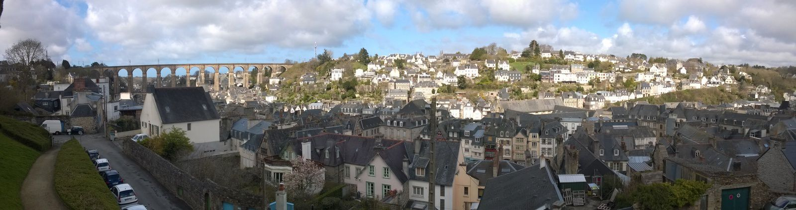 Panorama de Morlaix depuis le Square du Château
