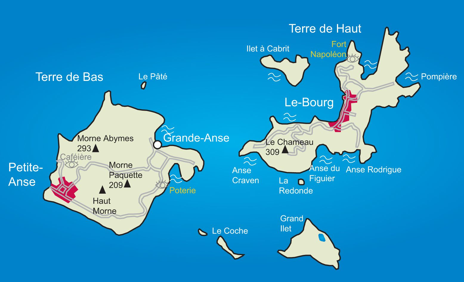 Carte des Saintes