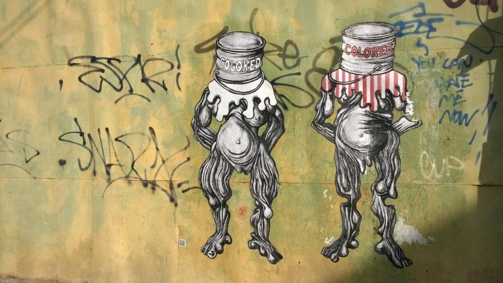 Quelques oeuvres de François Piquet dans les rues du Moule