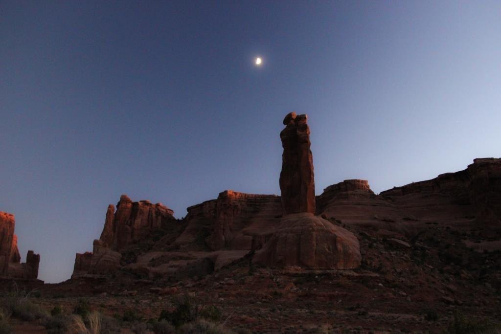 Clair de lune au-dessus des Three Gossips