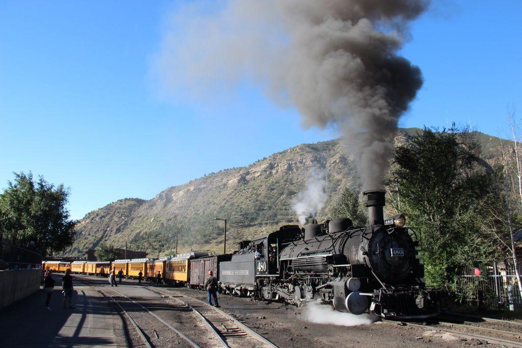 Vieille locomotive à vapeur à Durango