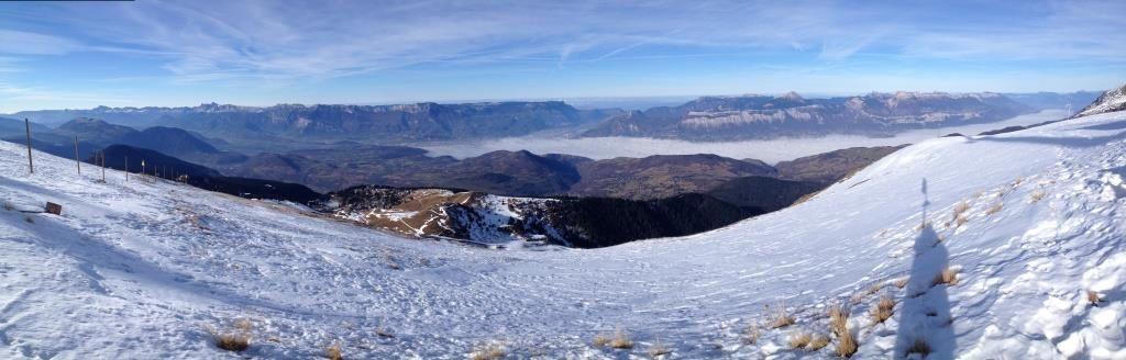Panorama sur la vallée de Grenoble depuis le haut des pistes de Chamrousse