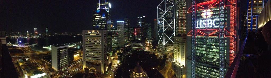 Vue à 360° sur Hong Kong depuis la terrasse du Sevva