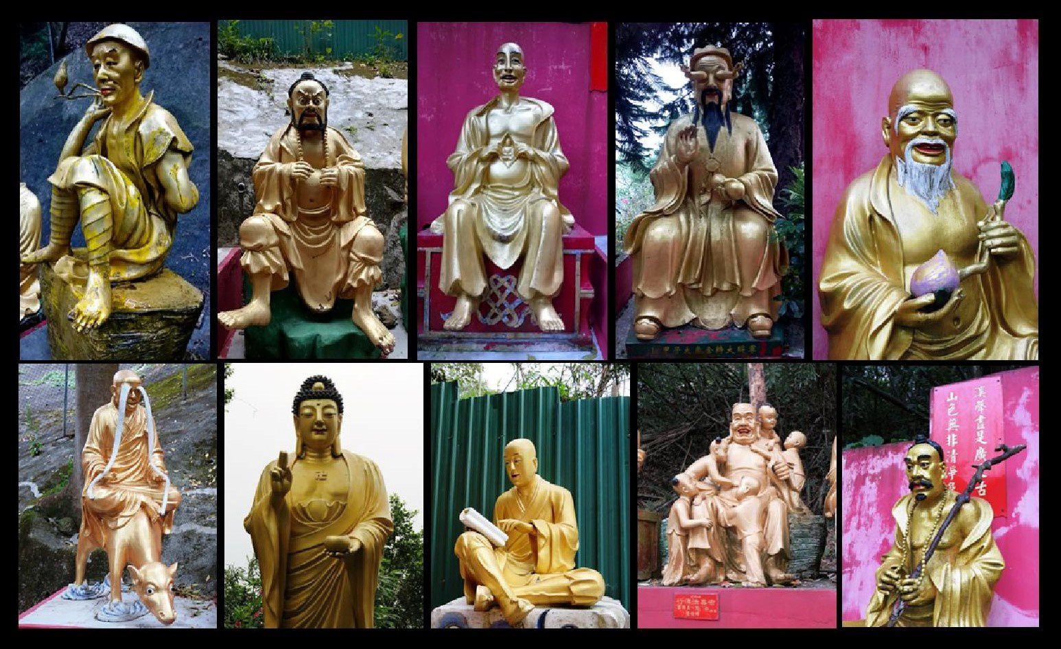Une sélection de quelques bouddhas parmi les 500 croisés