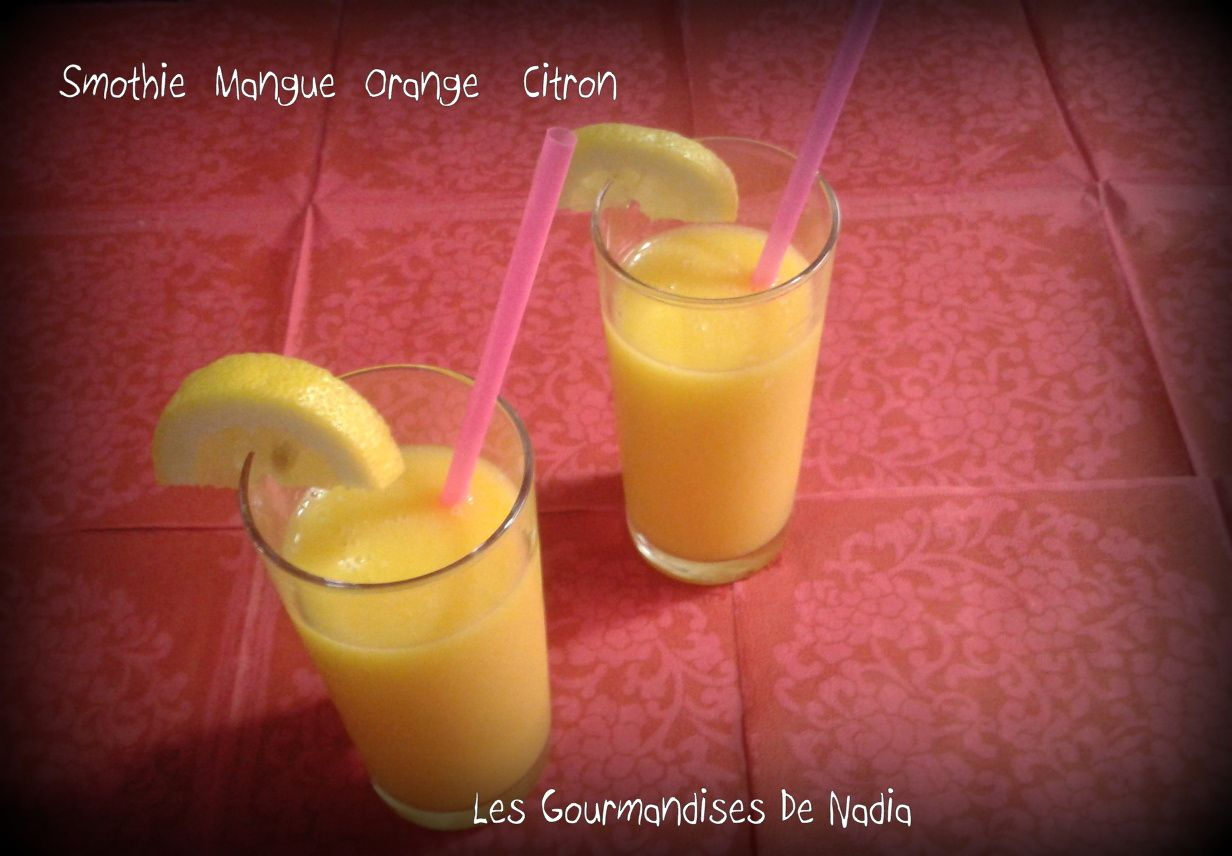 SMOTHIE MANGUE ORANGE CITRON