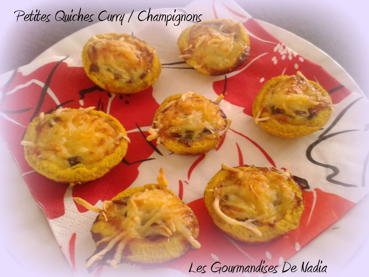 MINI QUICHE CURRY / CHAMPIGNON