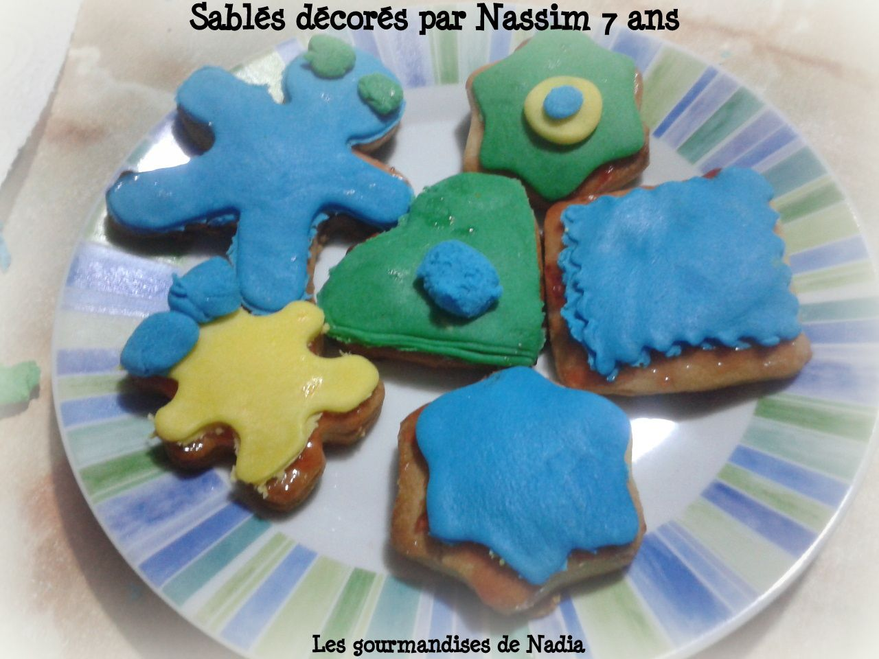 Sables Au Yaourt Decor Pate A Sucre Lesgourmandisesdenadia Over