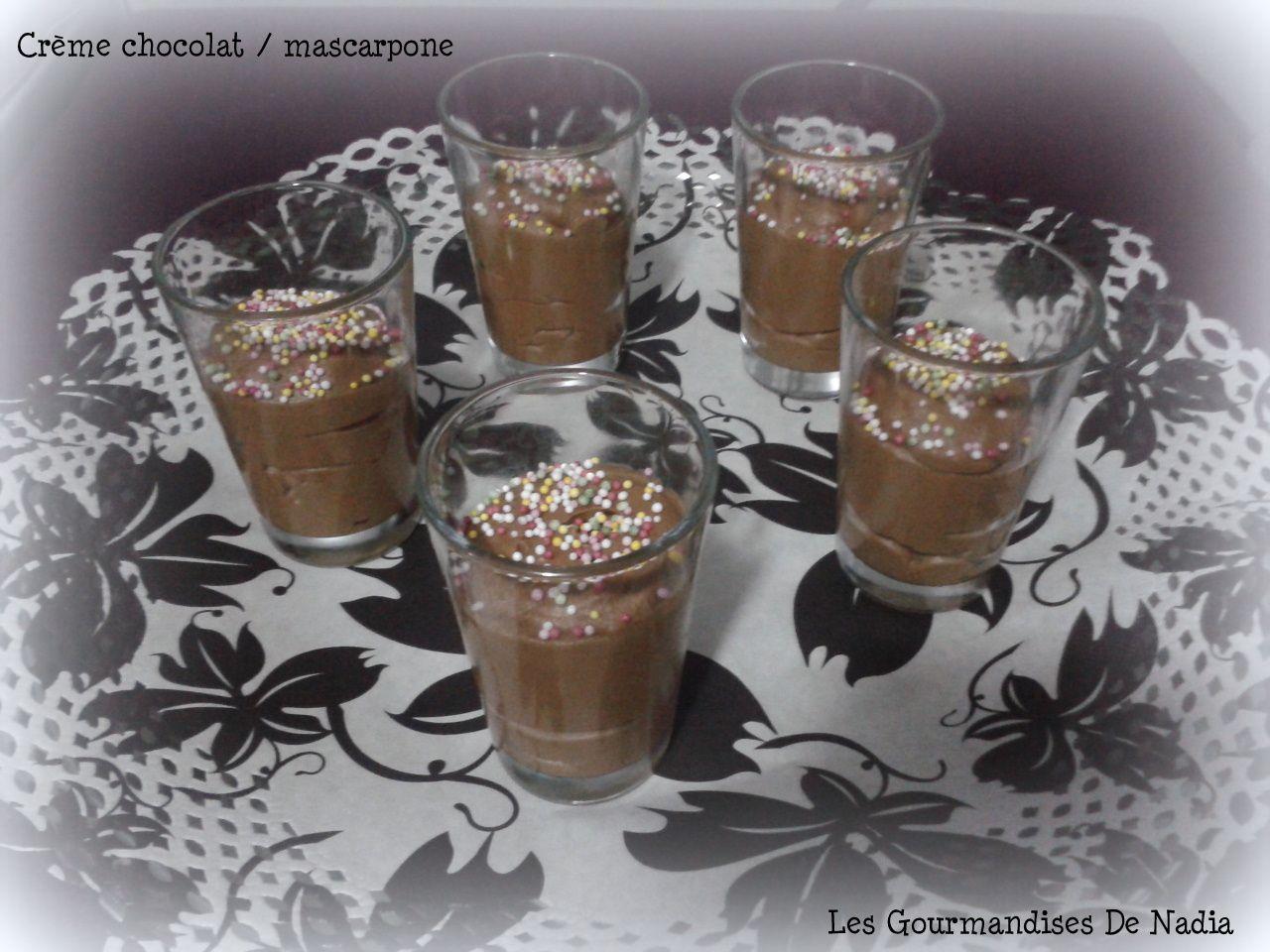 CRÈME CHOCOLAT / MASCARPONE