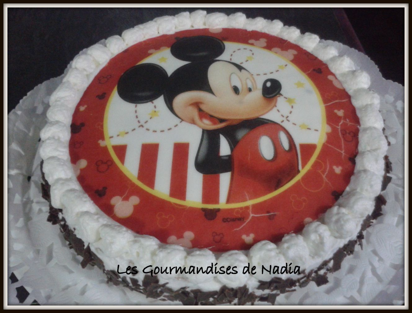 GÂTEAU GENOISE DECOR AZYME THEME &quot&#x3B; MICKEY &quot&#x3B;