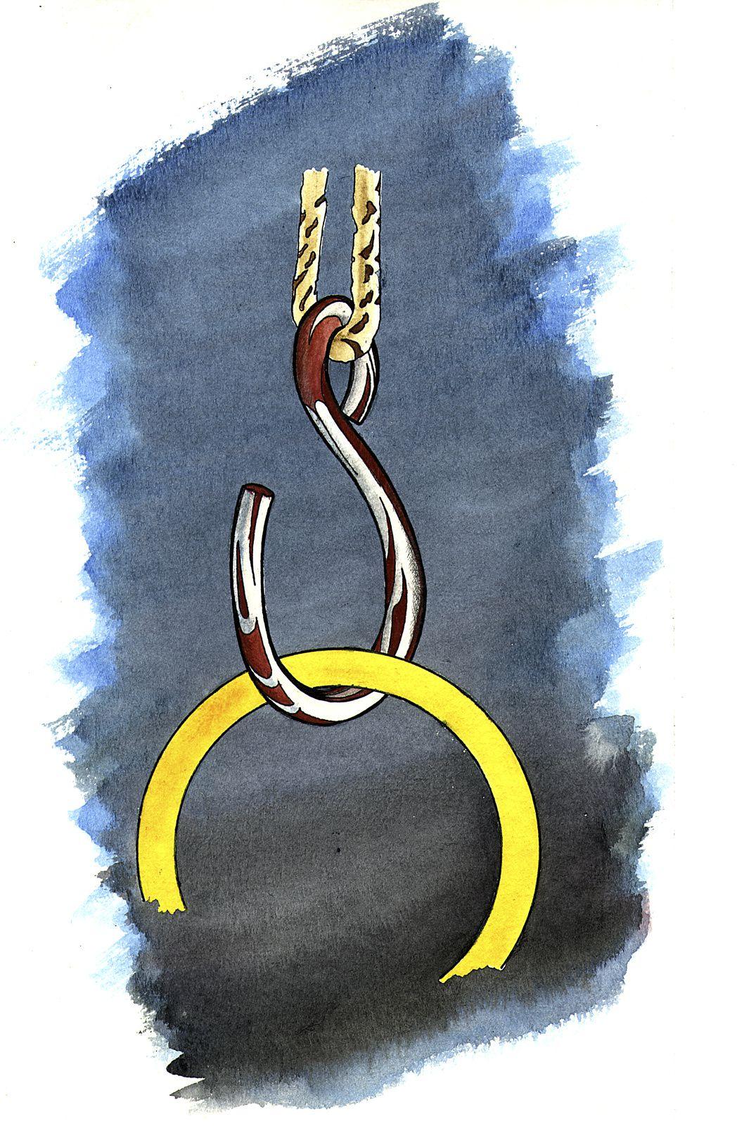 crochet et anneau permettant un montage et démontage rapide et simple