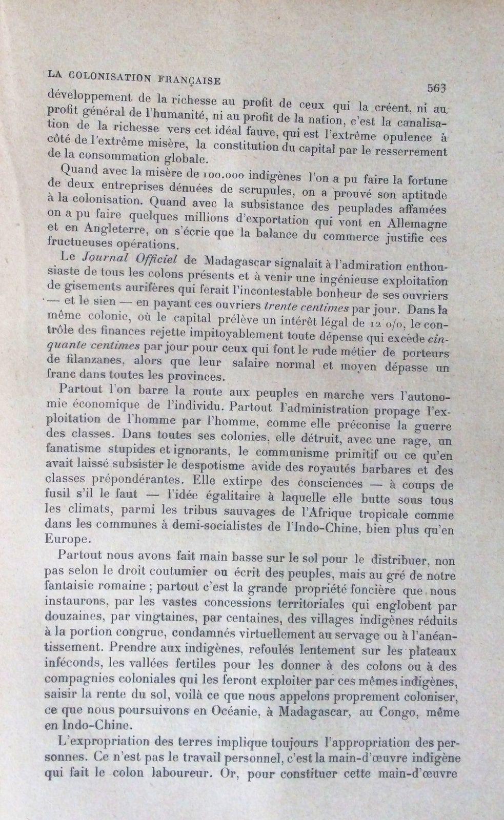 J. Erboville: &quot&#x3B;La colonisation française&quot&#x3B; in La revue blanche novembre 1901