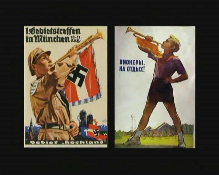 la propagande s'affiche