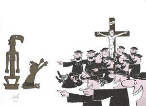 La caricature que je préfère car tout y est dit. Un chef d'œuvre absolu pour confondre l'infamie religieuse du christianisme.
