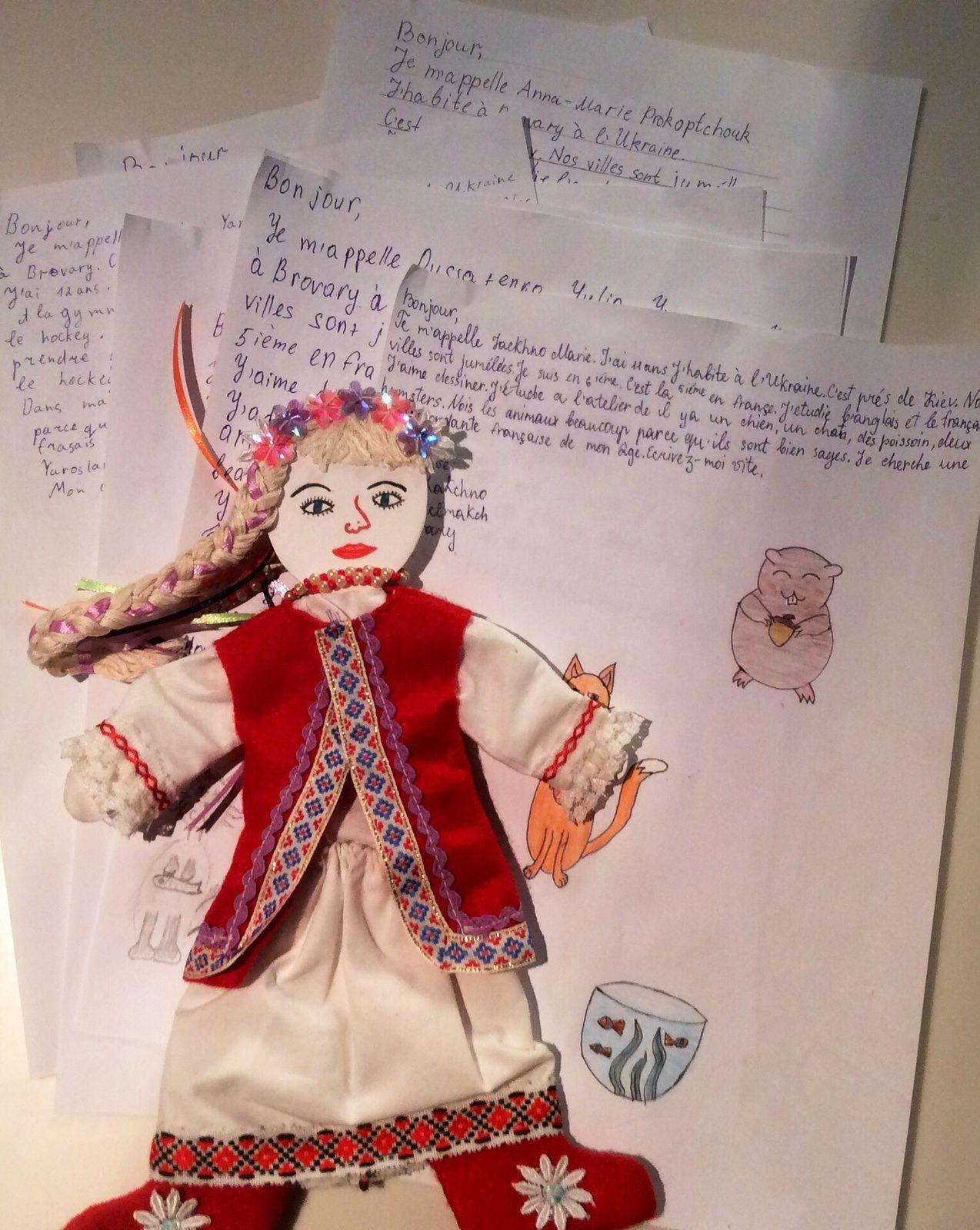 Brovary / Fontenay-sous-Bois: une relation  internationale avec des lettres en Rafales