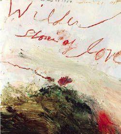 Cy Twombly&#x3B; une picturale Lettre au voyant
