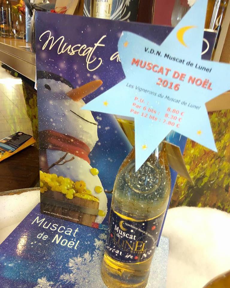 Concours avec Les Vignerons du Muscat de Lunel : Le Muscat de Noel est arrivé .