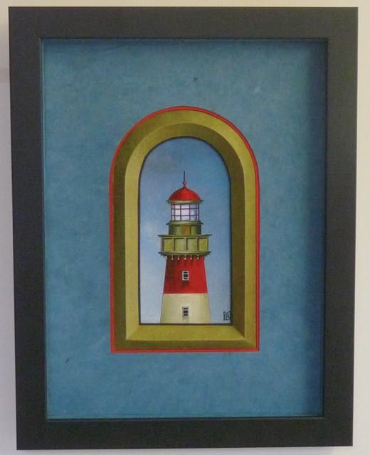 le phare vert et le phare rouge, des illustrations de Mme Christine Le Bris Morvan.